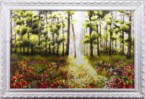 Tranh thêu tay phong cảnh Rừng Hoa (MPC0032) 2