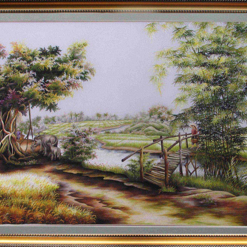 Tranh thêu tay phong cảnh (MPC0021) 1