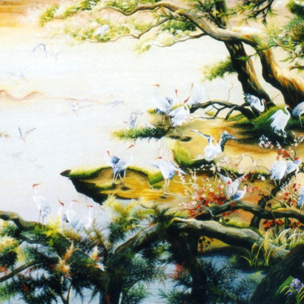 Tranh thêu tay phong cảnh (MPT0011) 1