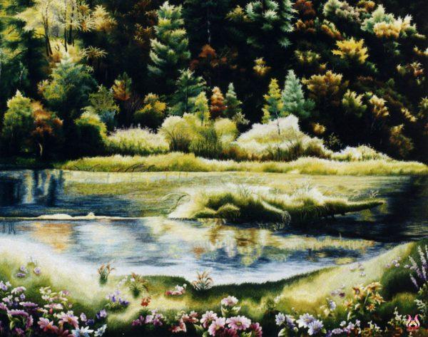 Tranh thêu tay phong cảnh (MPC0192) 1