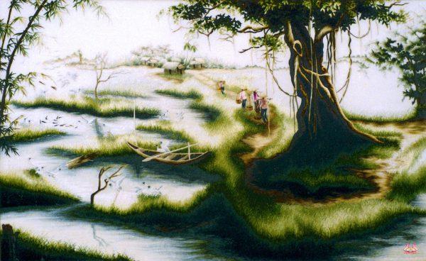 Tranh thêu tay phong cảnh (MPC0190) 1