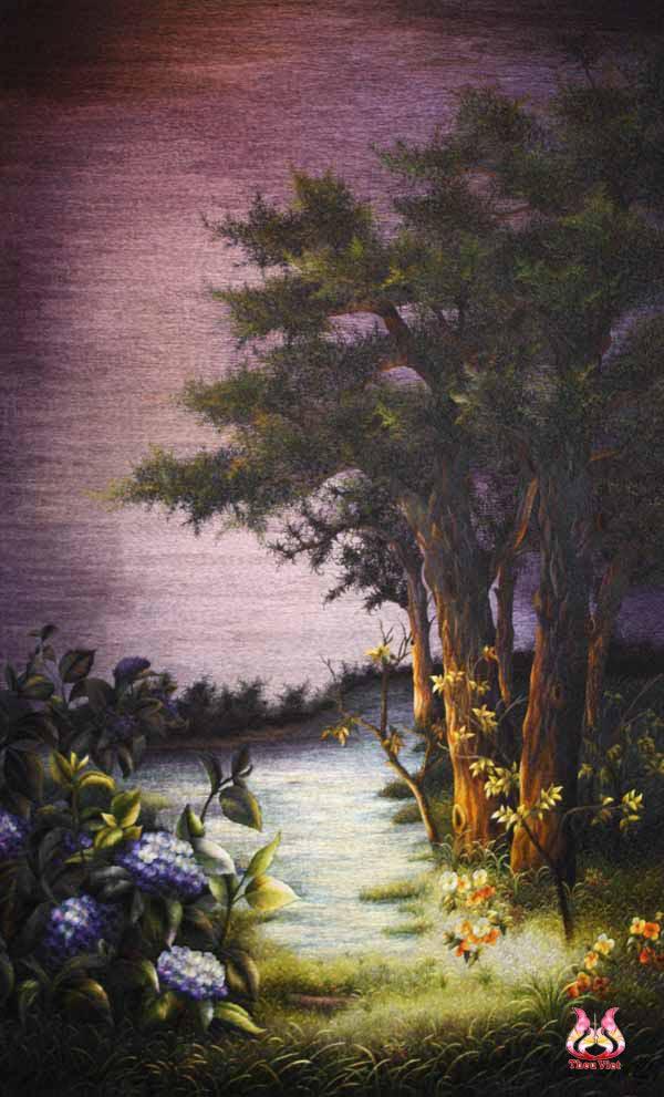 Tranh thêu tay phong cảnh (MPC0203) 1