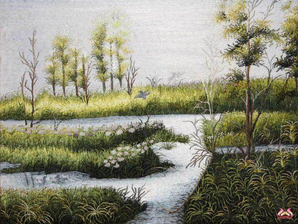 Tranh thêu tay phong cảnh (MPC0218) 1