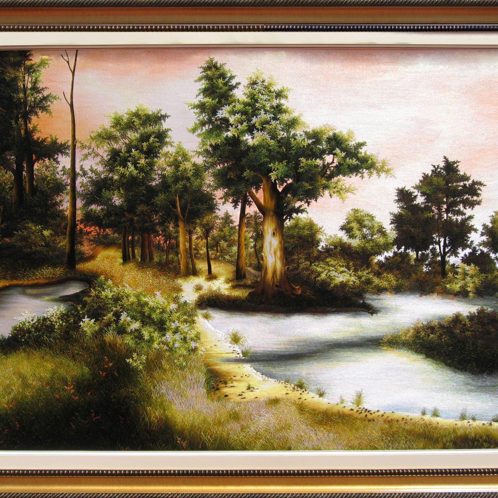 Tranh thêu tay phong cảnh (MPC0213) 1