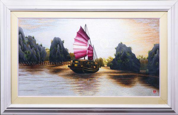 Tranh thêu tay Vịnh Hạ Long MVHL0015