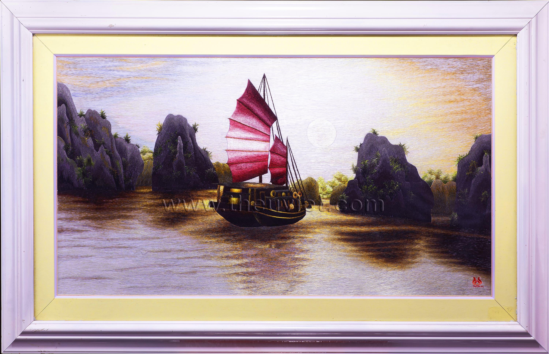 Tranh thêu tay Vịnh Hạ Long (MVHL0015)