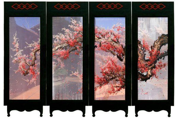 Tranh tứ quý Hoa đào (MHOA0099) 1