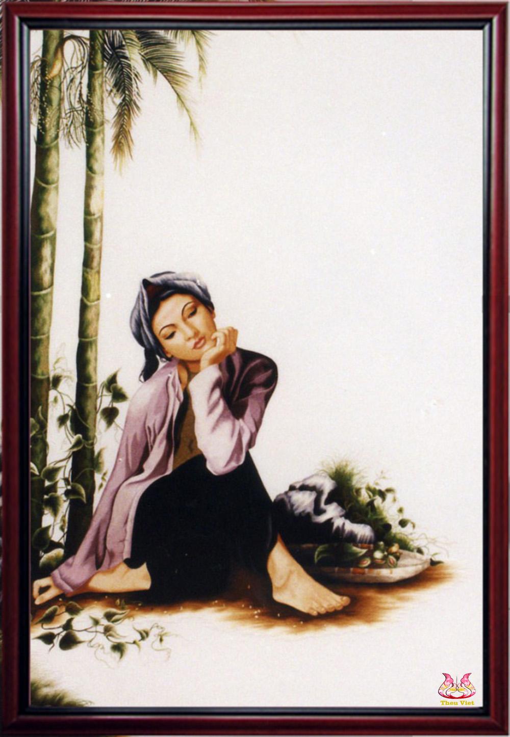 Tranh thêu chân dung Hương cau (MPC0137)