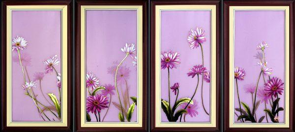 Tranh thêu tay hoa Colico (MHOA0114) 1