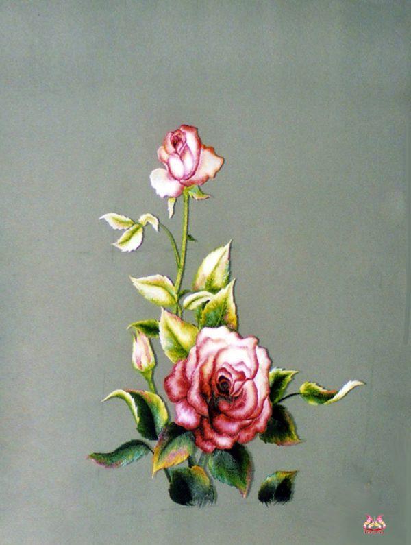 tranh theu tay hoa hong (MHOA0085) 1