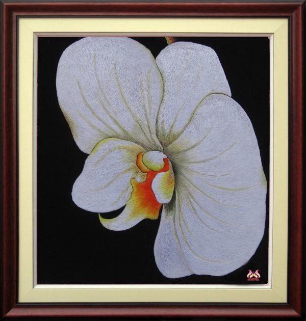 Tranh thêu tay hoa phong lan (MHOA0096) 1
