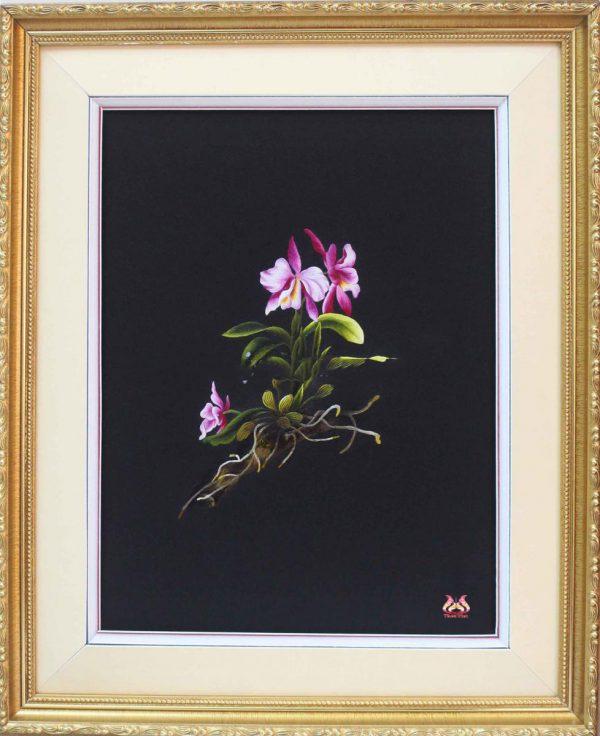 Tranh thêu tay hoa phong lan (MHOA0139) 1
