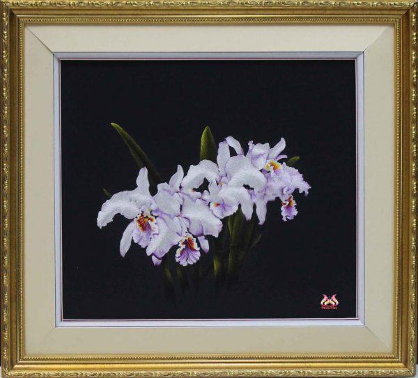 Tranh thêu tay hoa phong lan (MHOA0137) 1