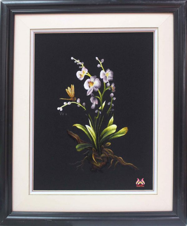 Tranh thêu tay hoa phong lan (MHOA0136) 1