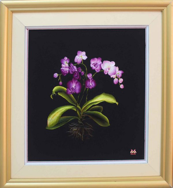 Tranh thêu tay hoa phong lan (MHOA0135) 1
