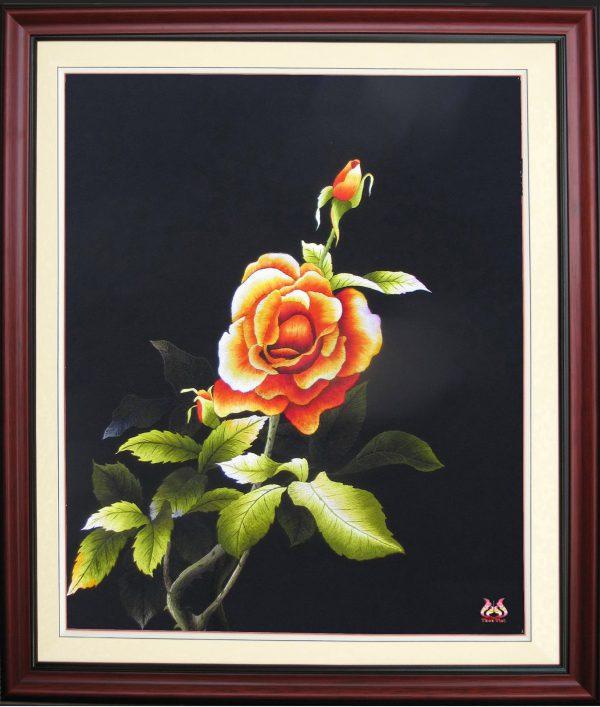 tranh theu Hoa Hồng (MHOA0008) 1