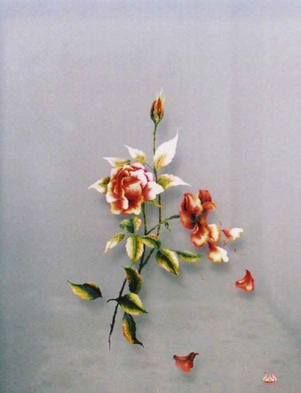 tranh theu tay hoa hong (MHOA0121) 1