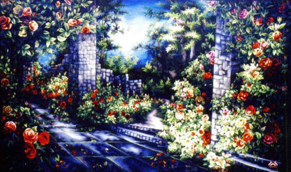 Tranh thêu tay phong cảnh (MHOA0153) 1