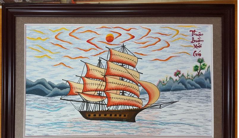 Tranh thêu thuận buồm xuôi gió và ý nghĩa phong thủy trong năm 2020 7
