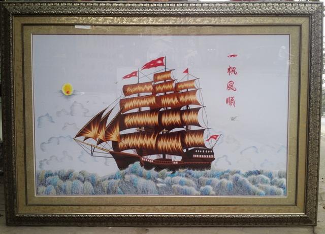 Tranh thêu thuận buồm xuôi gió và ý nghĩa phong thủy trong năm 2020 4