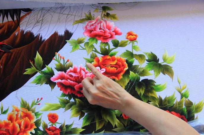 7 phương pháp thêu đơn giản khi thêu tranh thêu tay truyền thống 10