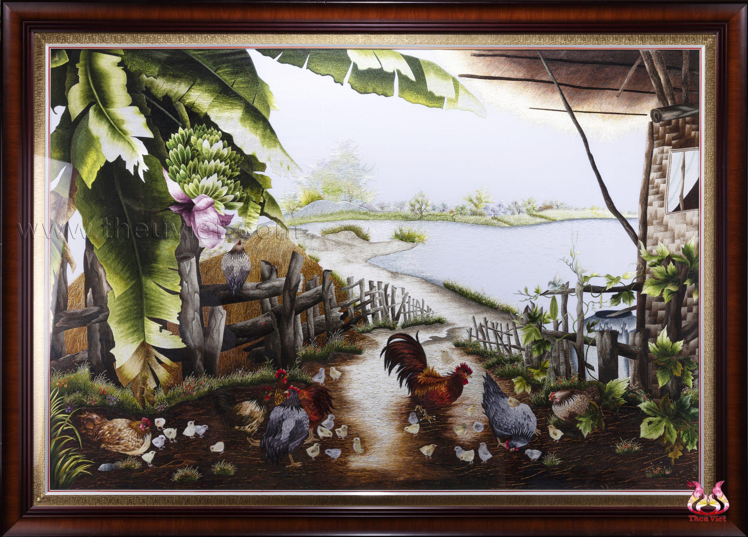 Tranh thêu phong cảnh làng quê Việt Nam ý nghĩa trong năm 2020 11