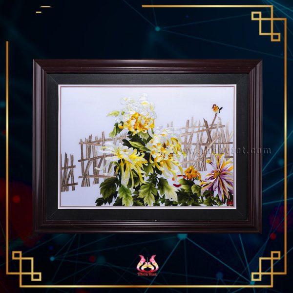 Tranh thêu Hoa Cúc (MHOA0165) 1