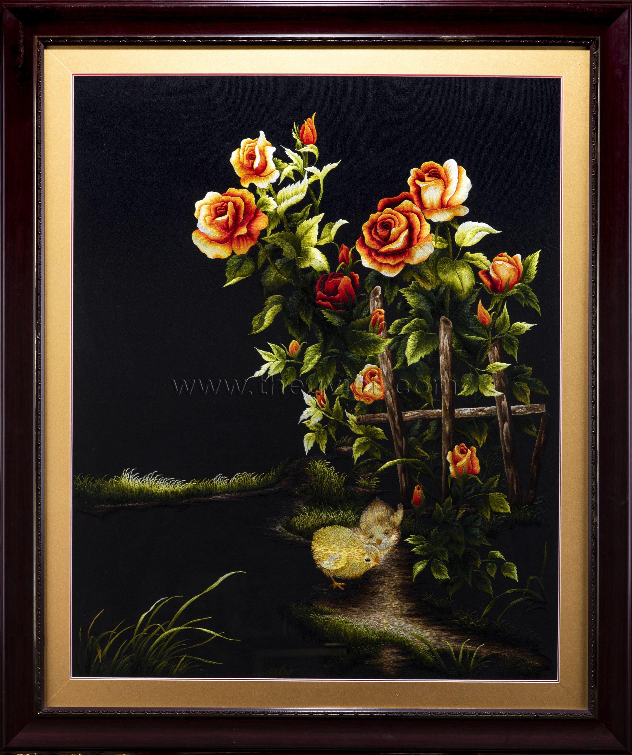 Tranh thêu hoa hồng và những ý nghĩa thú vị. 8