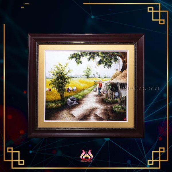tranh thêu tay phong cảnh quê hương MPC0071