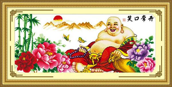 Tranh thêu Phật Di Lặc và ý nghĩa trong phong thủy 2