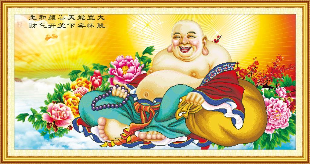 Tranh thêu Phật Di Lặc và ý nghĩa trong phong thủy 3