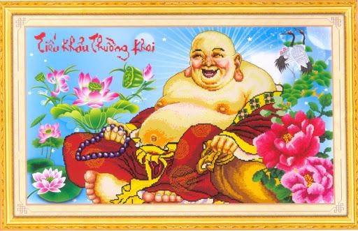 Tranh thêu Phật Di Lặc và ý nghĩa trong phong thủy 4