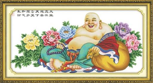 Tranh thêu Phật Di Lặc và ý nghĩa trong phong thủy 6