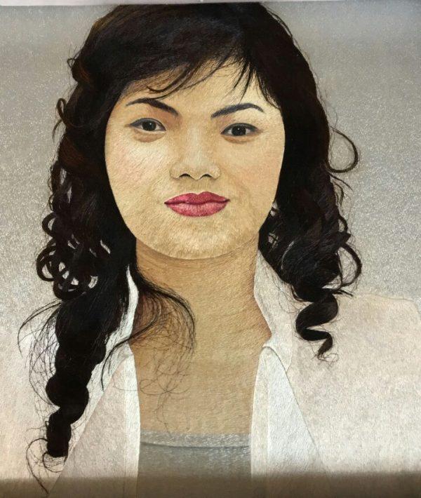 Tranh thêu tay chân dung MDAT0045