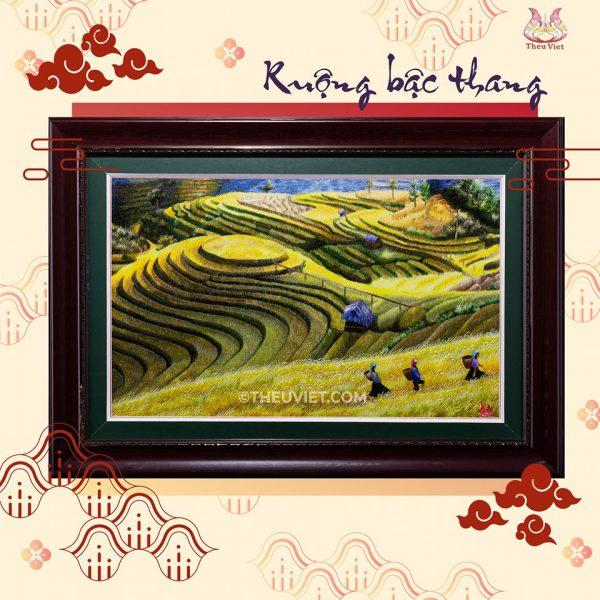 Tranh thêu tay Ruộng Bậc Thang (MPC0051) 1