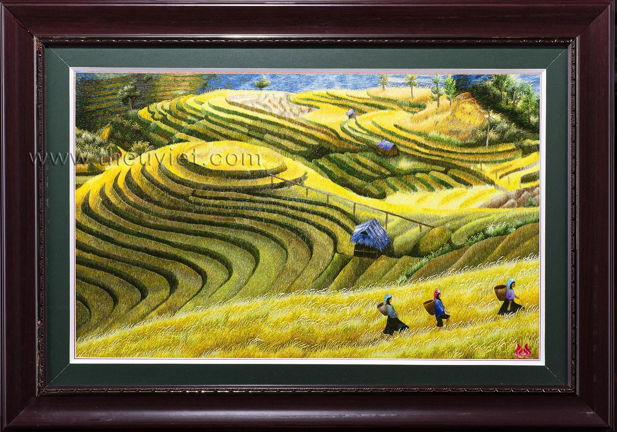 Tranh thêu tay Ruộng Bậc Thang (MPC0051)