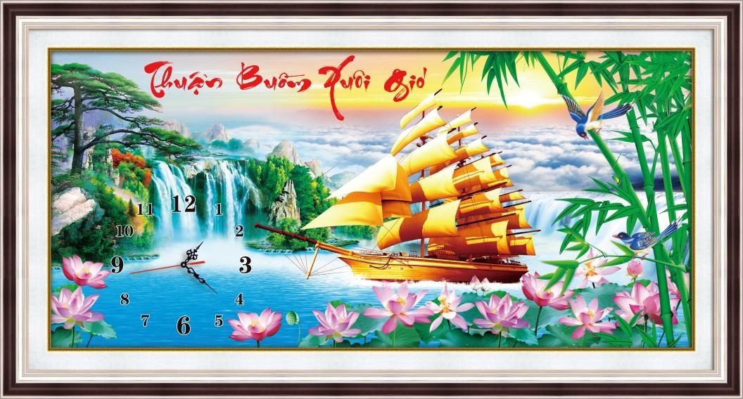 tranh theu dong ho