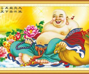 Tranh thêu Phật Di Lặc và ý nghĩa trong phong thủy
