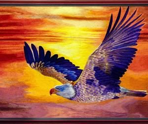 """High quality embroidery """"The Epic"""" (the Eagle spreads its wings)"""